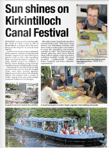 Coverage of our board games event at the Kirkintilloch Canal Festival